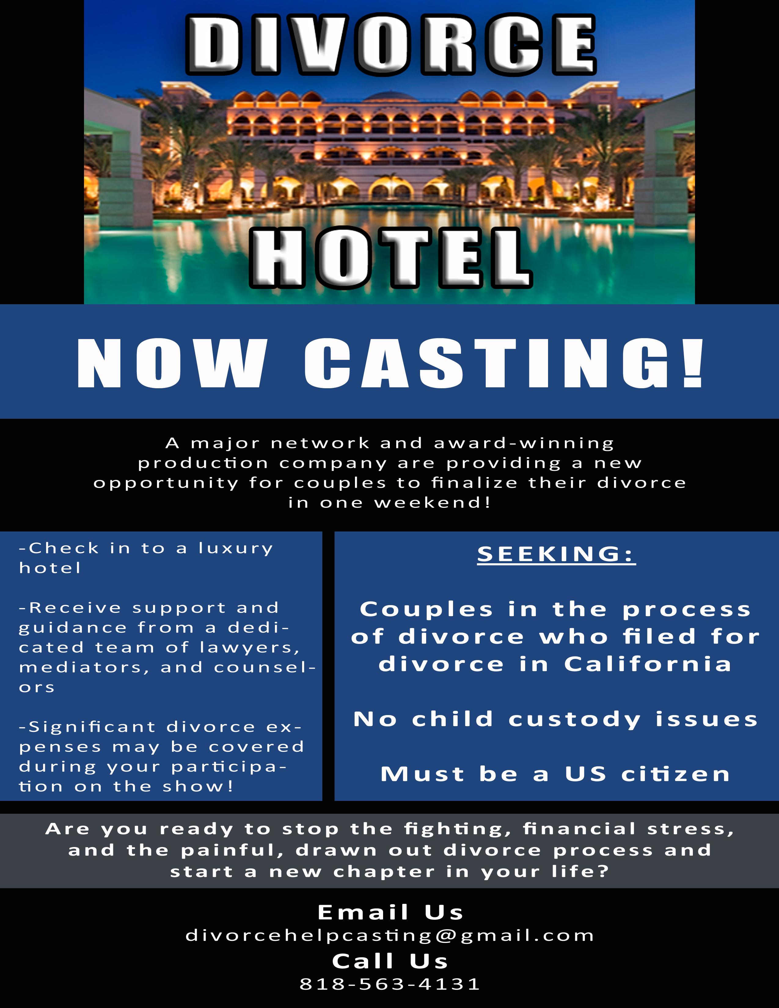 divorce hotel, divorce hotel casting, divorce, casting, separation
