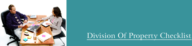 Family Legal Advice, Division of Assets