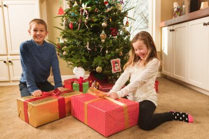 children happy christmas