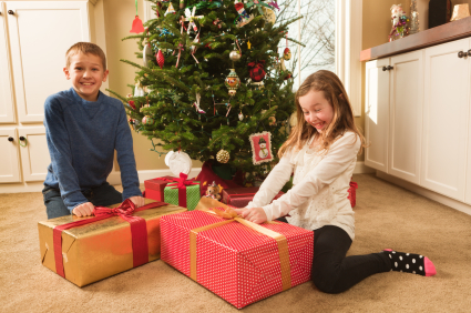 children happy christmas